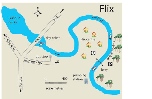 Map Of Spain Ebro River.Free Fishing Map To Find Places To Fish In Flix River Ebro