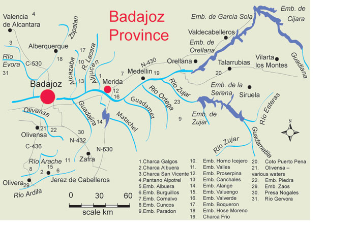 Map Of Spain Extremadura.Find Places To Fish In South Extremadura Fishing In Spain France