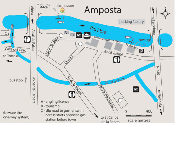 Map Of Spain Ebro River.Free Fishing Map To Find Places To Fish In Amposta River Ebro