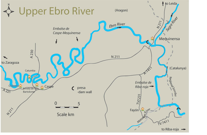 Map Of Spain Ebro River.Free Fishing Map To Find Places To Fish On Upper River Ebro