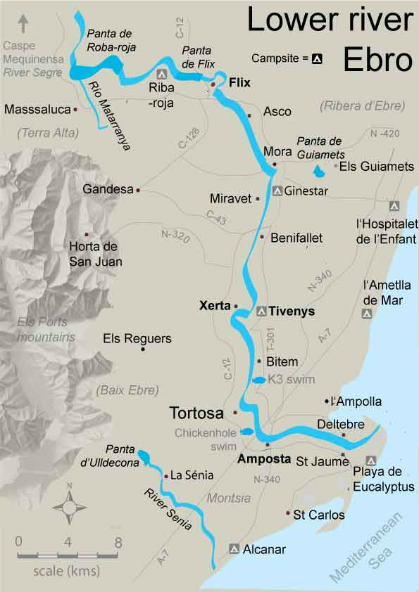 Map Of Spain Ebro River.Free Fishing Map To Find Places To Fish In Lower River Ebro At Flix