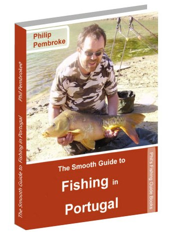 fishing book, trout, carp, barbel, shark, where to fish, licence, tackle, tactics, accommodation, Portugal
