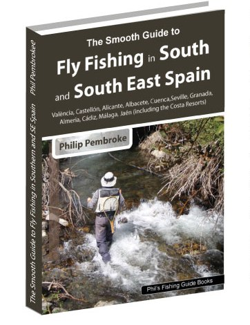 fly fishing book, Costas, Alicante, Valencia, Andalusia, Murcia, Almeria, trout, barbel, where to fish, licence, tackle, tactics, accommodation, Spain