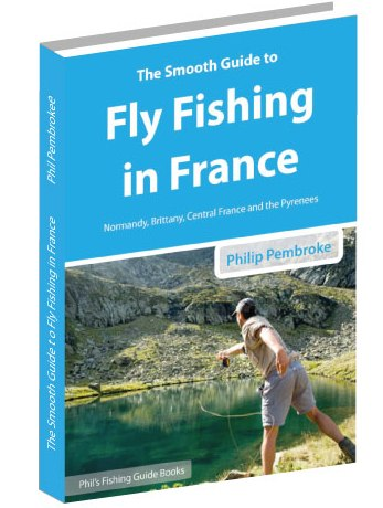 fly fishing book, Pyrenees, Lozere, Britanny, Normandy, sea trout, salmon, brown trout, where to fish, licence, tackle, tactics, accommodation, France