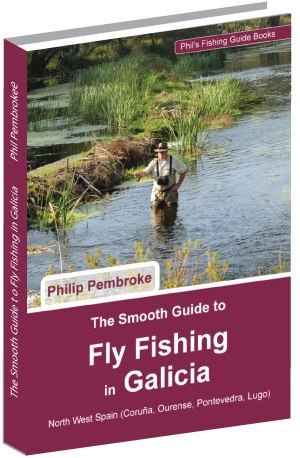 fly-fishing-book-brown-trout--sea-trout-places-to-fish-directions-tackle-tactics-fishing-licence--fishing-holiday-Galicia-Spain